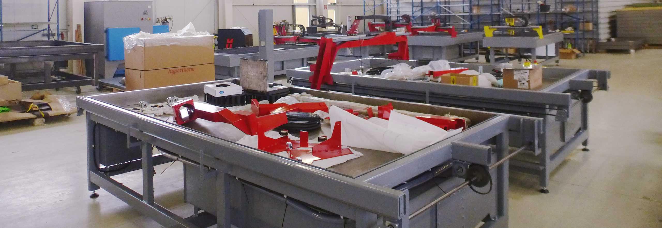 CNC Plasmascheideanlagen PlasmaCut Produktion
